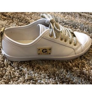G by guess (white/gold) shoes size 6